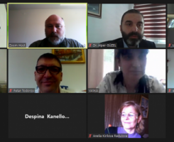 Online meeting instead of planned meeting in Ypres, Belgium